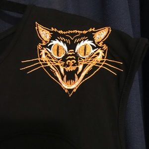 Black Too Fast Halloween Cat top